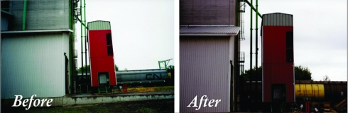 Grain Elevator Before and After
